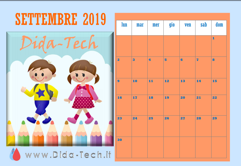 Calendario scolastico by Dida-Tech